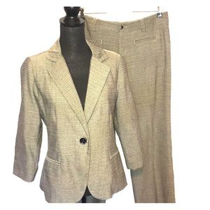 Cabi black cream pants jacket